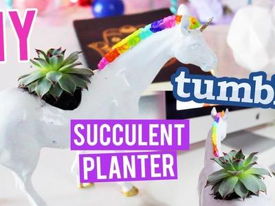 DIY UNICORN Succulent Planter TUMBLR Style!