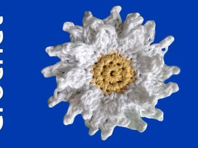 Giant Daisy Free Crochet Pattern - Left Handed