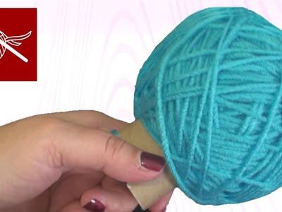 Hand Winding Yarn Crochet Stitch Tip