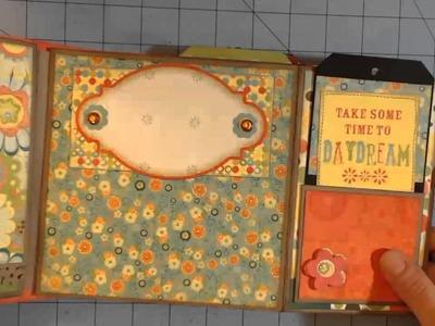 Hello Sunshine 6 1.2 by 6 1.2 mini scrapbook album