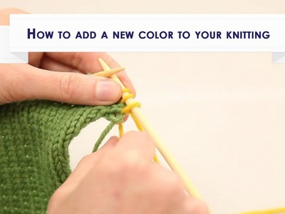 How to add a new color to your knitting