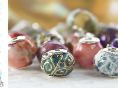 How to create Pandora style european beads in Friendly Plastic