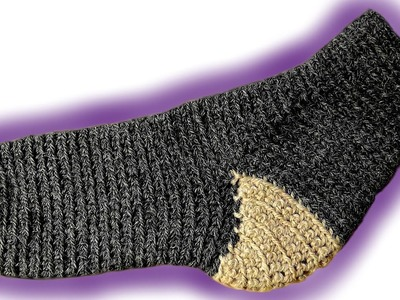 How to crochet toe-up socks [advanced] left handed