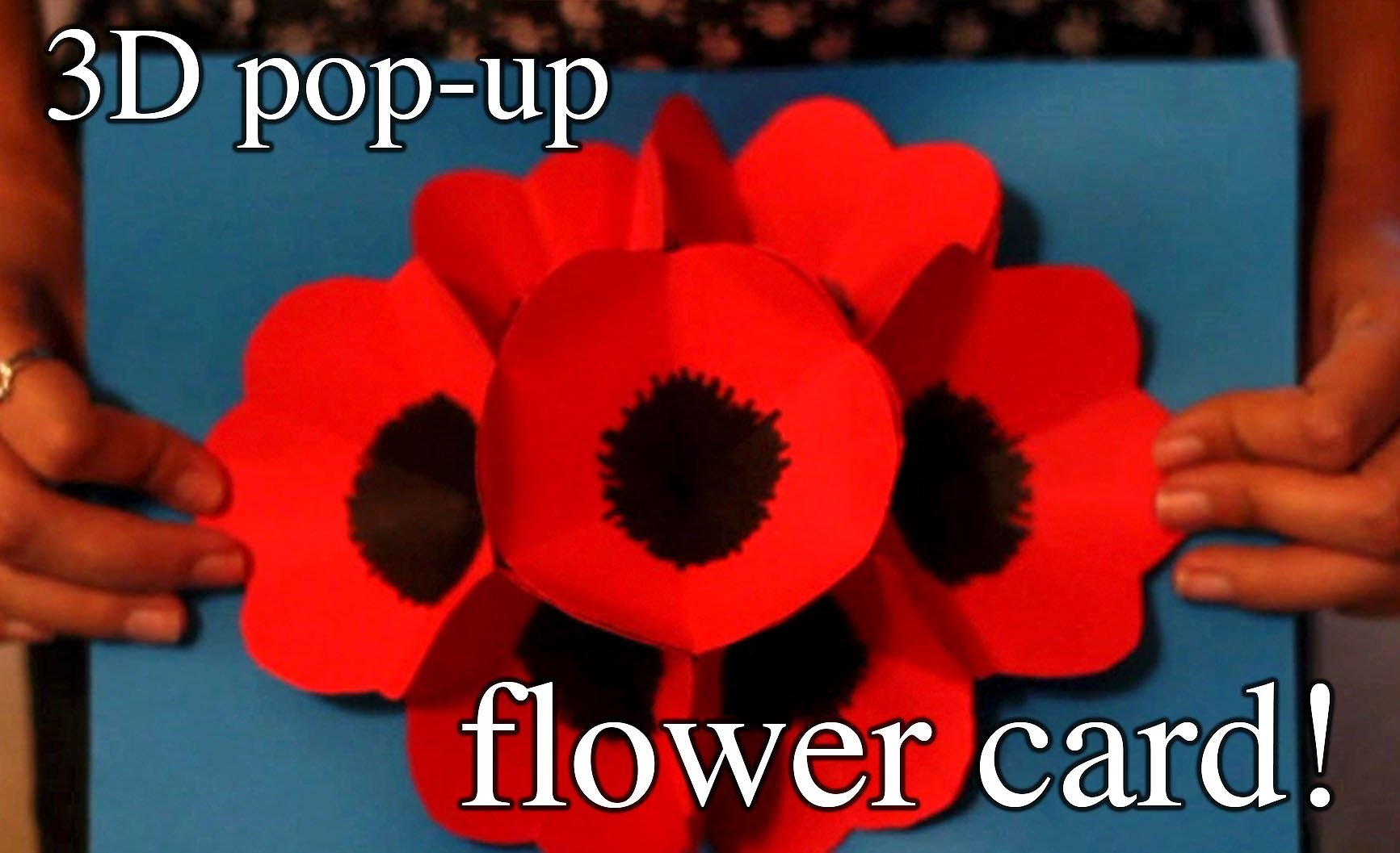 How to make a 3D pop-up flower card for a special someone