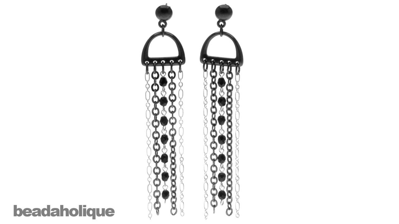 How to Make a Pair of D-Ring and Chain Earrings