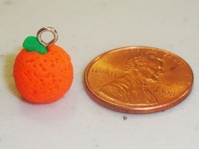 How to make a polymer clay orange charm hair pin - EP