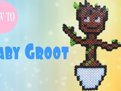 How to make Baby Groot (Guardians of the Galaxy) in Perler Beads