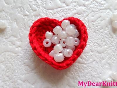 How to make crochet heart box