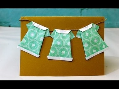 How to make Mum an origami dress card for Mother's Day