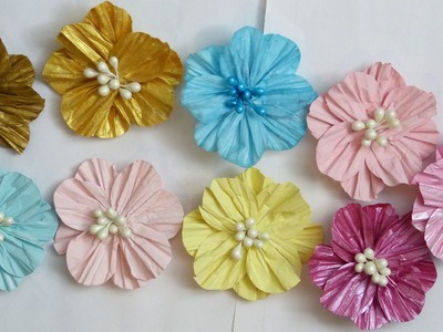 How to use circle shape into making paper flowers