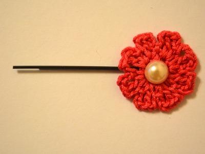 Make a Pretty Crochet Flower Hairpin - DIY Style - Guidecentral