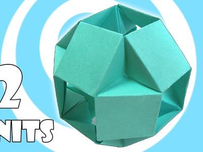 Modular Origami Ball Tutorial (12 Units) (Tomoko Fuse)