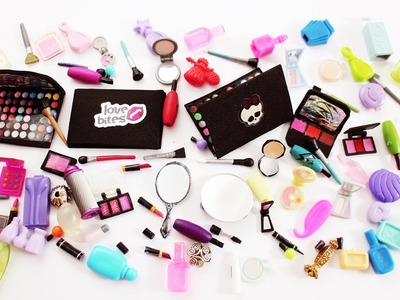 My doll makeup collection. Haul and Crafts for my dollhouse