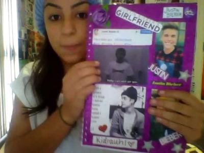 My Justin Bieber scrapbook