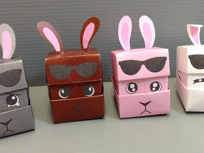 Origami Changing Faces Rabbit Cube - Print at Home