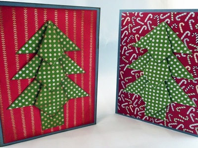 Origami Christmas Tree Card Tutorial