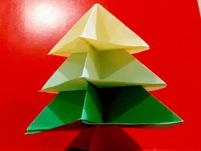 Origami Christmas tree. Easy! DIY .  Arbolito de NAVIDAD