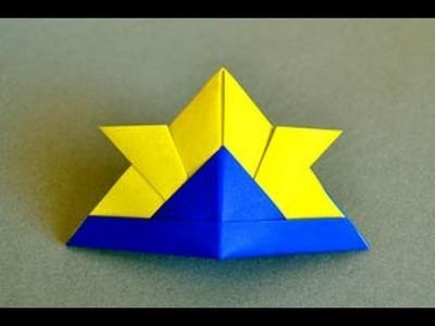 Origami Samurai Hat Instructions: www.Origami-Fun.com