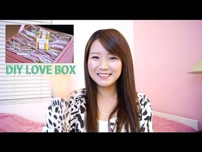 Personalized DIY Love Box Gift Idea Tutorial + Short Vlog