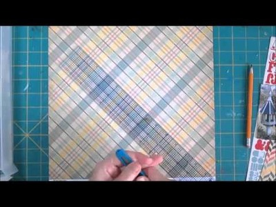 Scrapbooking Page Process  Preprinted Title Paper with Audio