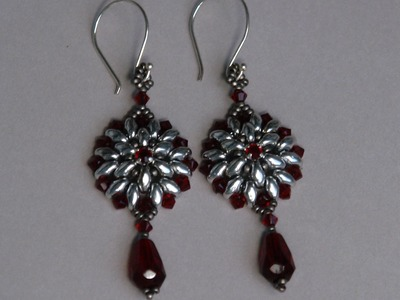 Sidonia's handmade jewelry - Superduo Victorian Earrings tutorial