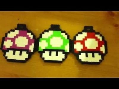 Super Mario Mushroom Perler Beads Creation