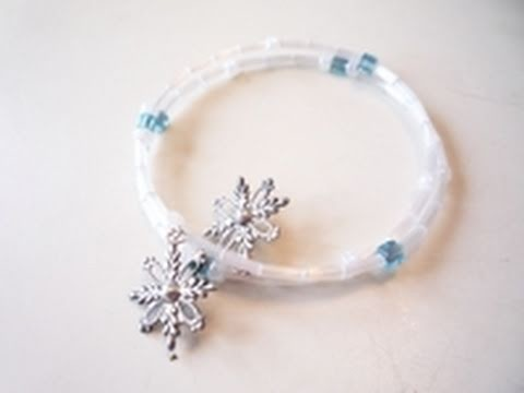 Winter Inspired Jewelry: A Snowflake Memory-wire Bracelet - A Jewelry-making Tutorial