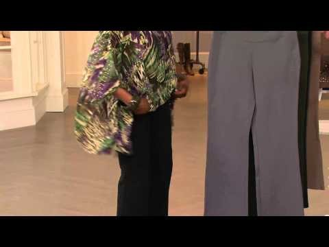 Women with Control Tall Seamed Waist Boot Cut Pants with Jill Bauer