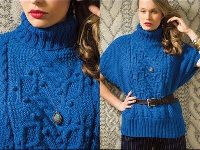 #21 Entrelac Poncho, Vogue Knitting Fall 2012