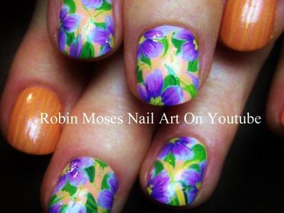 4 Nail Art Tutorials | Nail Art For Short Nails | DIY Lavender Flowers