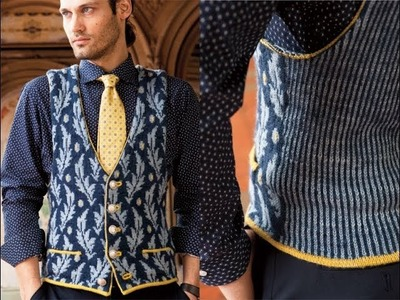 #8 Fitted Waistcoat, Vogue Knitting Early Fall 2014