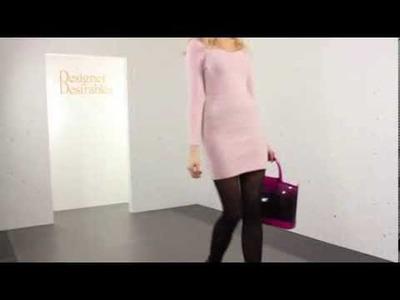 Baby Pink Fine Knit Long Sleeved Jumper Dress