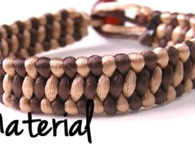 Beading Ideas - How to make a Stairs Knot bracelet