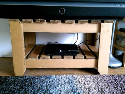 Cardboard TV stand Samsung DLP Awesome Diy video coming soon
