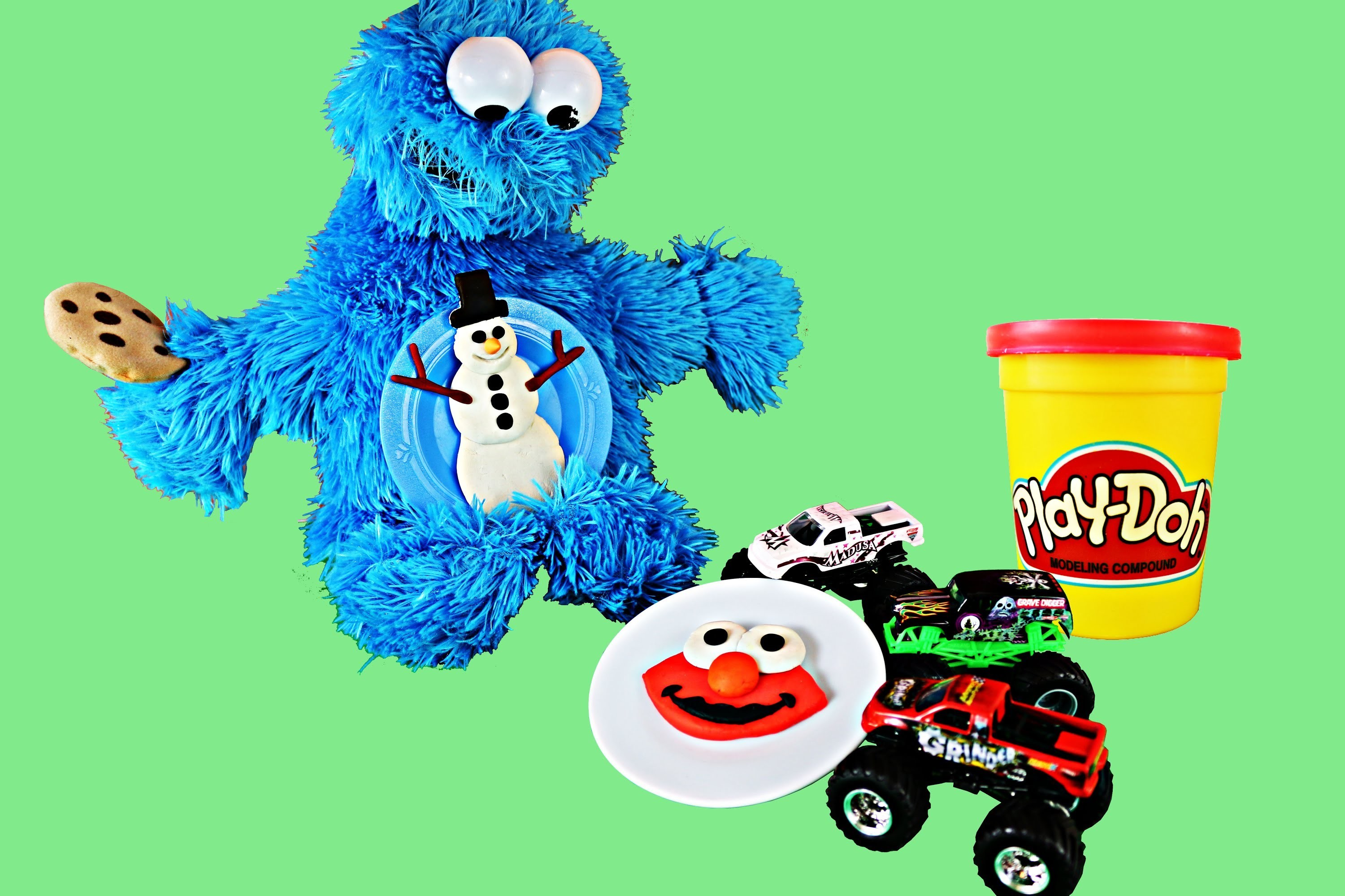 Cookie Monster Play Doh 12 Cookies of Christmas DIY New Playdough Cookie Each Day - Day 12