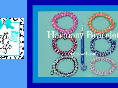 Craft Life Harmony Bracelet Tutorial on the Rainbow Loom