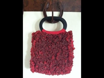 Crochet a  Ruby Ribbon Candy Purse