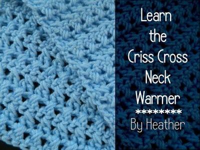 Crochet Criss Cross Neckwarmer Reversible