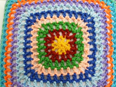 Crochet Granny Square Tutorial Pattern #3