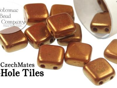 CzechMates 2 Hole Tile Beads