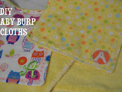 DIY: BABY BURP CLOTHS BEGINNER FRIENDLY BABY SHOWER GIFT
