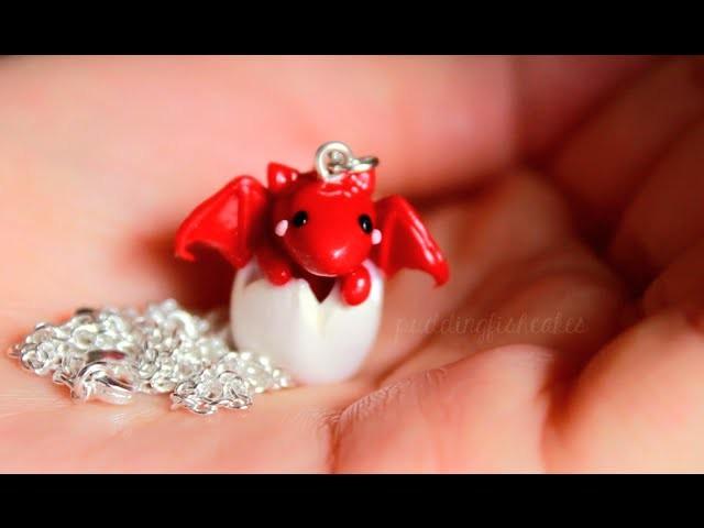 DIY: Baby Dragon Necklace Polymer Clay Tutorial (Collab w. LittleSurprisesYT)