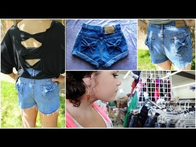 DIY Bow Jean Shorts!+How I wear them!