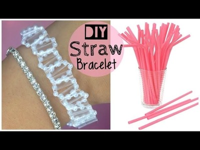 DIY Bracelet Out of a Straw (EASY)