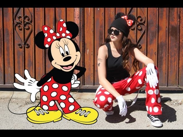 DIY Easy Halloween Costume: Chola Minnie Mouse