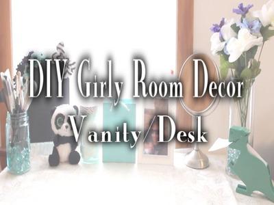 DIY Girly Room Decor - Vanity.Desk Decor ♥ GlitterToGaming ♥ HD
