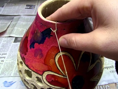 DIY Gourd Art: Filigree, Dyeing, and Knotting