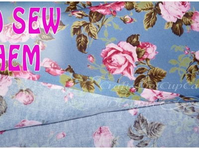 DIY No Sew Fabric Hem. Seam Tutorial