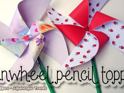 DIY Pinwheel Pencil Topper Tutorial - How To