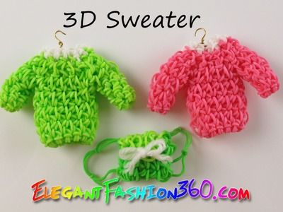 DIY Rainbow Loom Sweater 3D Charm - How to Loom Bands Tutorial